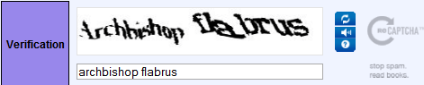 Captcha: archbishop flabrus